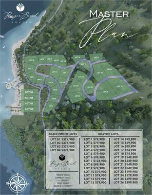 Pangea Beach Hilltop and Beachfront Lots